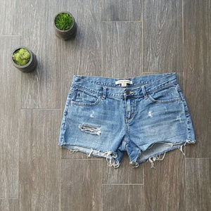 F21 Distressed Jean Shorts
